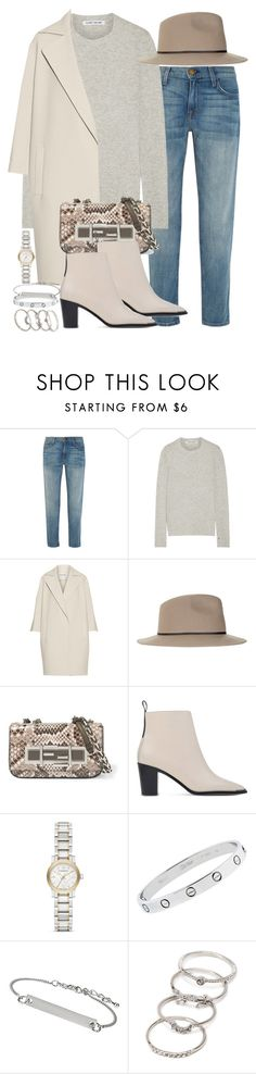 """""""Sin título #4161"""" by hellomissapple on Polyvore featuring moda, Current/Elliott, Elizabeth and James, KaufmanFranco, Topshop, Fendi, Acne Studios, Burberry, Cartier y Forever 21"""