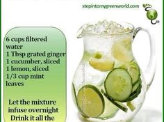 If You Drink This Before Going To Bed You Will Burn Belly Fat Like Crazy beauty diy diy ideas health healthy living remedies remedy life hacks fat loss healthy lifestyle beauty tips detox juicing good to know viral Detox Drinks Healthy Drinks, Get Healthy, Healthy Water, Healthy Weight, Healthy Food, Healthy Juices, Healthy Man, Detox Juices, Healthy Dishes