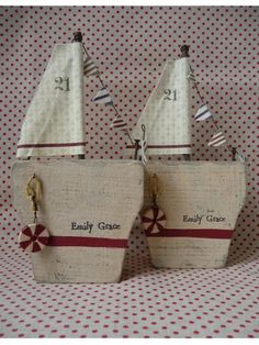 cute wooden sail boats from France