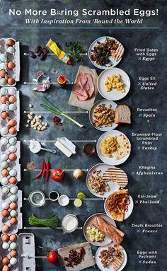 Food, Food menu design, Food Scrambled eggs, Egg breakfast, Breakfast recipes - You& Never Think of Scrambled Eggs as Simple Again - Egg Recipes, Brunch Recipes, Breakfast Recipes, Cooking Recipes, Chicken Recipes, Dinner Recipes, Breakfast Sandwiches, Dinner Menu, Breakfast Ideas