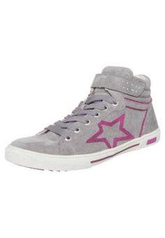 Gabor TAMI Sneakers hoog Grijs Meisjes Hoge sneakers leer kinderschoenen kinder maat: 18,19,20,21,22,23,24,25,26,27,28,29,30,31,32,33,34,35,36,37 bestel je ...