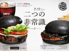 Burger King, burger, noir, Japon, insolite