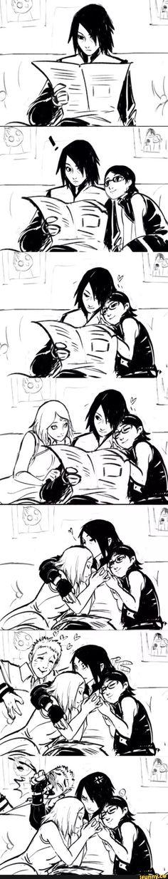 sasuke, sakura, sarada, naruto, sasusaku <--- this makes me really happy