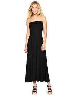4-in-1 dress - A dress with a twist. Wear it 4 ways: Strapless maxi, strapless midi, strapless mini, or foldover maxi skirt.