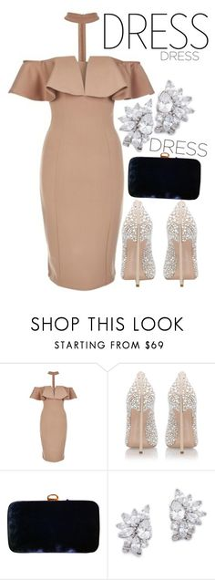"""""""Night out"""" by nastiarl ❤ liked on Polyvore featuring Rare London, Casadei, Sergio Rossi and Kenneth Jay Lane"""