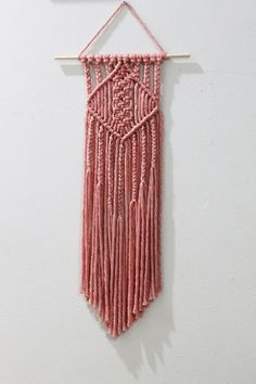 Apricot Colored Macrame Wall Hanging