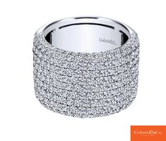 A gorgeous 18k White Gold Diamond Ring from Gabriel & Co.