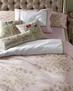 """""""Catherina"""" Bed Linens at Horchow."""