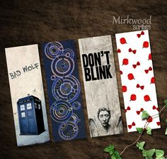 Doctor Who Printable Bookmarks - This shop is full of awesome stuff!