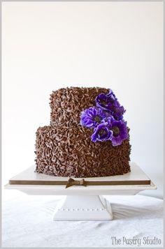 Chocolate Decadence + Purple Anemones  Design by: The Pastry Studio