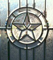 Texas Star beveled leaded glass window aaleadedglass.com