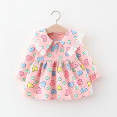 Baby Girl Dresses Diy, Baby Girl Frocks, Girls Dresses Sewing, Frocks For Girls, Little Girl Outfits, Kids Outfits, Kids Frocks Design, Baby Frocks Designs, Baby Girl Frock Design
