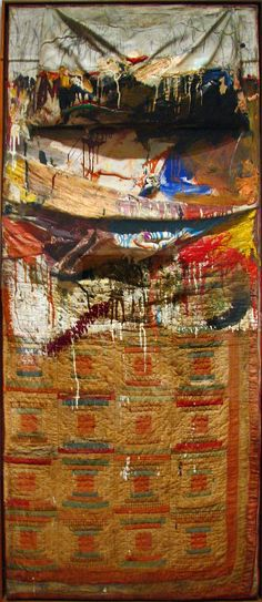 Bed is an Abstract Expressionist artwork created by Robert Rauschenberg in It lives at the MOMA, Museum of Modern Art in New York. The image is © Robert Rauschenberg Foundation, and used according to Educational Fair Use, and tagged Sculpture. Jasper Johns, Robert Rauschenberg, Action Painting, Painting Art, Art Pop, Museum Of Modern Art, Art Museum, Abstract Expressionism, Abstract Art
