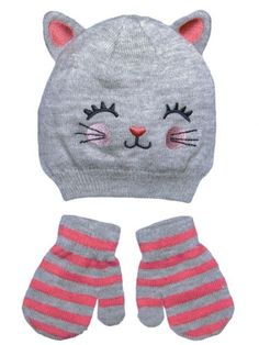 Girls Kitty Baby Infant Toddler Animal Winter Critter Hat and Mitten Set by Carters - Gray - 0-9 Mths Carter's,http://www.amazon.com/dp/B00GOIBQNC/ref=cm_sw_r_pi_dp_syJNsb1AHB43T6ZQ