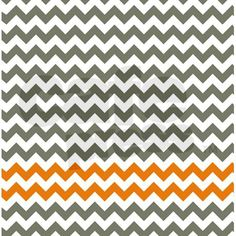 Gray and Orange Chevron Stripes Shower Curtain on CafePress.com
