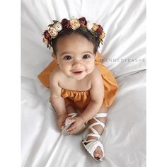 A little #tbt . . . Outfit and flower crown: @myfashion.baby  Sandals: @brave.threads