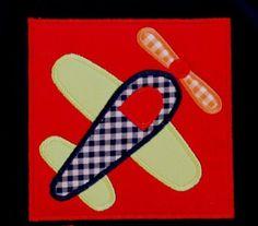 Airplane applique machine embroidery design by trendystitchdesigns