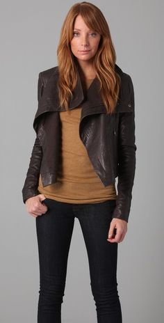 Veda Max Classic Leather Jacket #womens #fashion #style