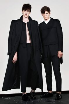 Sean Suen. Menswear. Fall/Winter 2013. Clean. Modern. Black on Black.