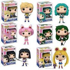 Ad - POP Sailor Moon Luna Chibiusa Meiou Setsuna Kaiou Michiru Uranus Sailor Saturn C Sailor Moon Luna, Sailor Chibi Moon, Sailor Neptune, Sailor Saturn, Sailor Mars, Figurines D'action, Pop Figurine, Vinyl Figures, Action Figures