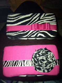 super cute wipes case! Love the hot pink and zebra print! I could so make this!
