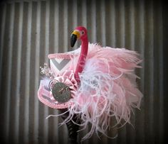 Hey, I found this really awesome Etsy listing at https://www.etsy.com/listing/215548121/mini-top-hat-flamingo-mini-top-hat-alice