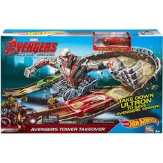 Hot Wheels Marvel Avengers Age of Ultron Tower Takeover Track Set - Walmart.com