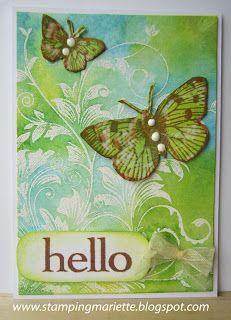 Stamping Mariëtte: ATC Hello Spring!