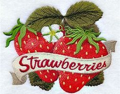 Embroidered Vintage Strawberries Flour Sack / Hand / Bath Towel / Apron by on Etsy Strawberry Moons, Strawberry Patch, Strawberry Fields, Strawberry Png, Strawberry Shortcake, Strawberry Pictures, Strawberry Kitchen, Strawberry Decorations, Towel Apron