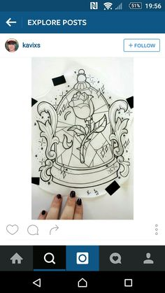 Beauty and the beast inspired disney tattoo