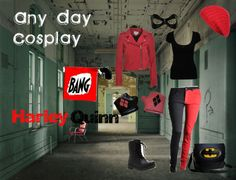 """""""Any Day Cosplay Harley Quinn"""" by rebecca-hulick ❤ liked on Polyvore"""