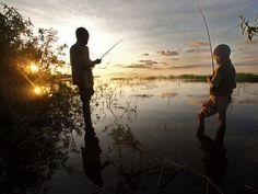Fishing Lake Tumba