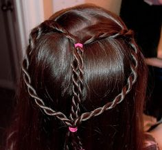 Little Girl's Hairstyles – Valentine's Day Heart Hairdo