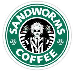 When Beetlejuice mets Starbucks. Tim Burton Kunst, Tim Burton Art, Burton Burton, Beetlejuice Halloween, Halloween 2, Vintage Halloween, Starbucks Logo, Starbucks Coffee, Disney Starbucks