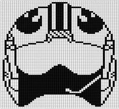 Pattern set number two! These are the gridded patterns I used for my double knit Star Wars blanket. Each pattern is 60 stitches wide and 71 tall and makes one square out of the nine total used in t… Star Wars Crochet, Crochet Stars, Cross Stitch Games, Cross Stitch Patterns, Star Wars Quilt, Pixel Art Templates, Star Wars Quotes, Knitting Charts, Crochet Blanket Patterns