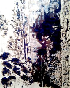 Large scale brush and ink, mixed media drawing, Fine Art, Truro College - Zoe Truro College, Mixed Media, Scale, Ink, Fine Art, Drawings, Floral, Painting, Weighing Scale