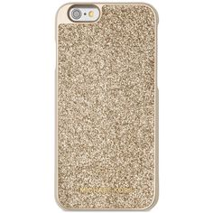 Michael Michael Kors Glitter Snap-On iPhone 6 Cover found on Polyvore featuring accessories, tech accessories, pale gold and michael kors