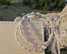 Χειροποίητα στέφανα γάμου από σπάγκο και δαντέλα Crown, Jewelry, Jewellery Making, Corona, Jewels, Jewlery, Jewerly, Crowns, Jewelery