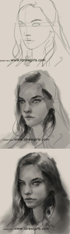How to sketch portrait