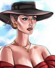 Fashion Illustration Chanel, Beauty Illustration, Portrait Illustration, Indian Art Paintings, Easy Paintings, Art Of Beauty, Character Cakes, Fashion Art, Womens Fashion