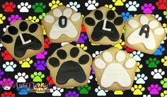 Galletas con huellas de perritos para dar las gracias