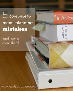 Menu-planning is mea