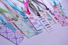Damask, Mustache, Sewing, Texting, Hearts, and Floral Bookmarks. $2.50, via Etsy.