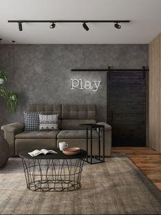 Home Room Design, Interior Design Living Room, Living Room Designs, Interior Livingroom, Home Living Room, Living Room Decor, Bedroom Decor, Industrial Interior Design, Interior Modern
