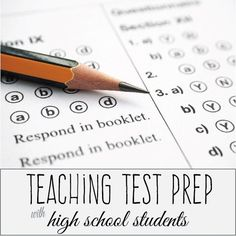 Teaching test prep with high school students.