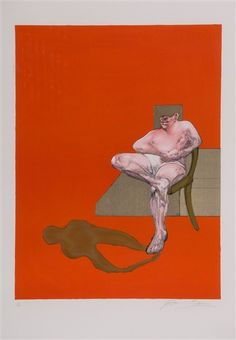 Francis Bacon, Right panel of Triptych (S.17)