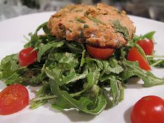 They have amazing canned salmon at Costco and Whole Foods has a great frozen salmon. I think this will make great use of my 6 can supply of salmon! Wild Salmon Cakes with Avocado Arugula Salad on http://foodbabe.com