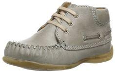 Bisgaard Lauflerner 20403114 – Zapatos para bebé de cuero para unisex-bebé, color gris, talla 23