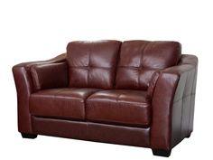 Amazon.com   Abbyson Living Crimson Italian Leather Loveseat, Burgundy    Love Seats