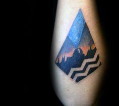 Astronomy Aquarius Mens Small Outer Forearm Tattoo